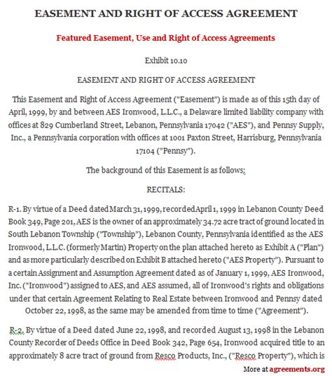 Easement Use And Right Of Access Agreement, Sample. Weekly Preschool Newsletter Template. Vendor Application Template Free Template. Use Case Diagram Template. Waiver Of Subrogation Template. Retirement Party Invite Template. Money Receipt Format Word Template. S Day Powerpoint Template. Mortgage Loan Calculator With Amortization Template