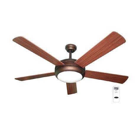 shop harbor aero 52 in bronze downrod mount ceiling fan with light kit and remote at