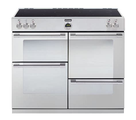 buy stoves sterling 1000ei electric induction range cooker stainless steel free delivery