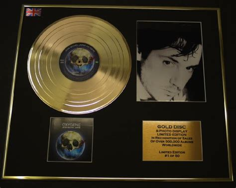 jean michel jarre cadre disque d or vinyle photo et livret edition limitee certificat d