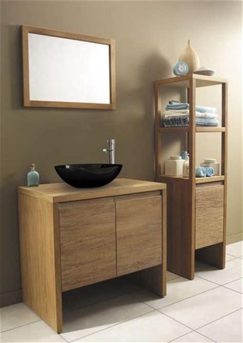 meuble salle de bain bois exotique peinture faience salle de bain
