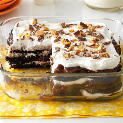 chocolate toffee icebox cake recipe taste of home
