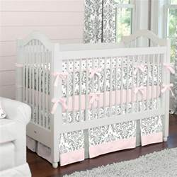 Pink Crib Bedding by Pink And Gray Traditions Crib Bedding Baby Bedding