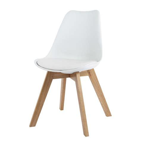 chaise en polypropyl 232 ne et ch 234 ne blanche maisons du monde