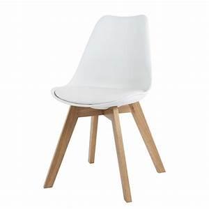 Vintage Stuhl Leder : skandinavischer stuhl wei ice maisons du monde ~ Markanthonyermac.com Haus und Dekorationen