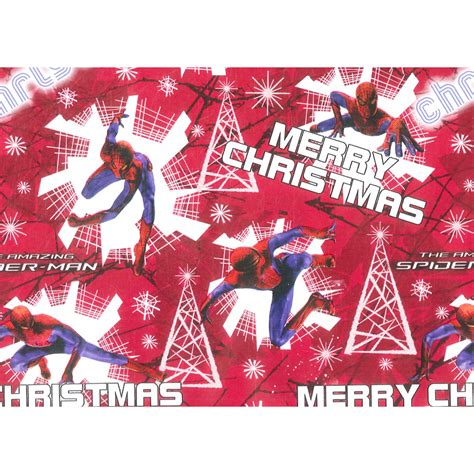 The Amazing Spiderman 4m X 69cm Gift Wrap Christmas