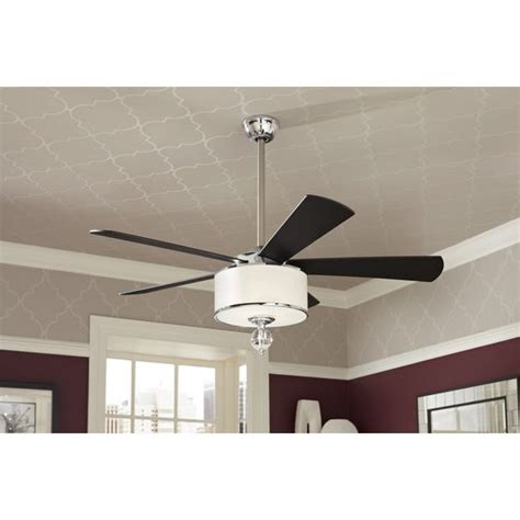 shop allen roth harbor 52 in polished chrome indoor downrod mount ceiling fan