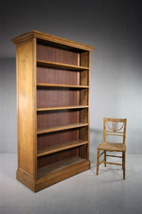 Free Standing Double Sided Antique Open Library Bookcase