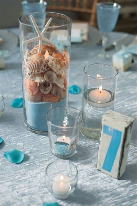 Top 31 Beach Theme Wedding Centerpieces Ideas   Table Decorating Ideas
