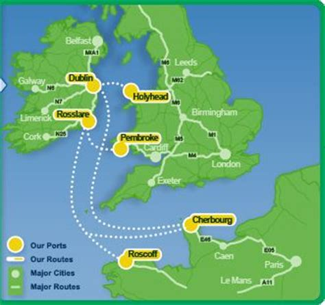 Ferry England To Ireland by View Routes Journey Times