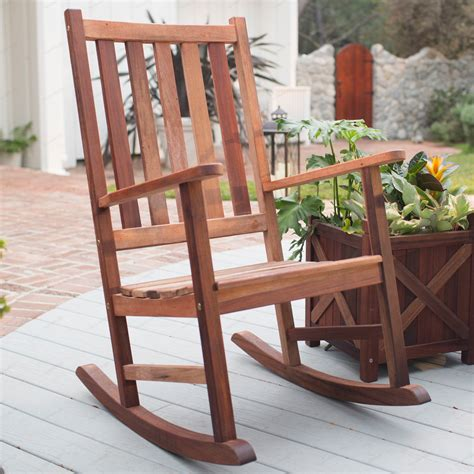 belham living richmond heavy duty outdoor wooden rocking chair outdoor rocking chairs at hayneedle