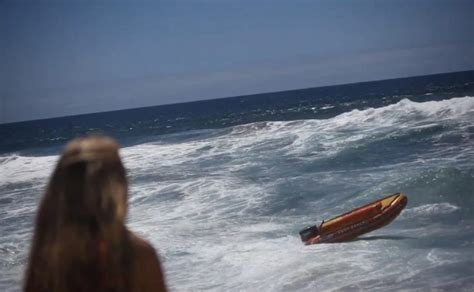 Driving Boat In Waves by Video Lifeguards Boat Gets Loose Swerves Around Ny