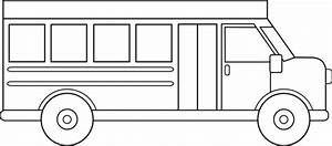 Bus black and white bus clipart simple clipartfest ...