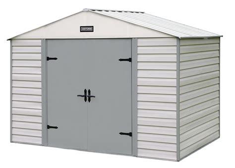 craftsman 10 x 7 vinyl coated steel shed rugged storage