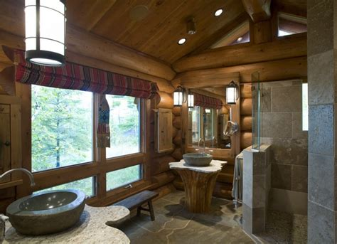 Log Home Design-rustic-bathroom-minneapolis-by