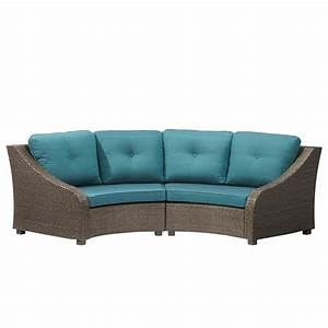 Lounge Sofa Outdoor : hampton bay torquay wicker outdoor sofa with charleston cushions frs60557ab st the home depot ~ Markanthonyermac.com Haus und Dekorationen