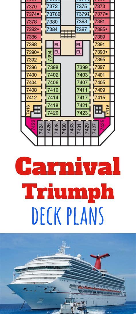 Carnival Triumph Deck Plan 7 by Carnival Triumph Deck Plans Cruise Radio