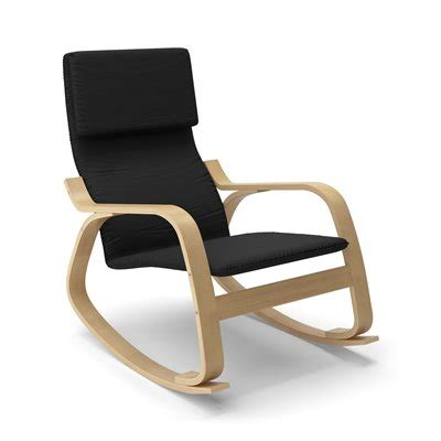 corliving laq 6 aquios bentwood contemporary rocking chair lowe s canada