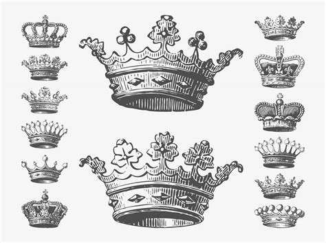 Crown Drawing, Drawings And Queen