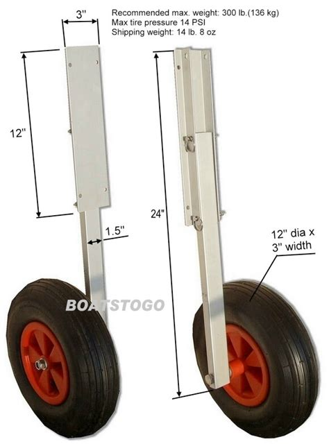 Inflatable Boat Launching Wheels by Launching Transom Wheels Set For Inflatable Boat Dinghy Ebay