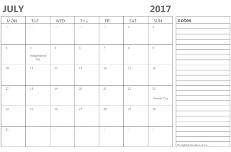 calendar template for june july august 2017 printable july 2017 calendar template monthly calendar 2017