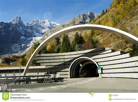 mont blanc tunnel stock photography image 2128022