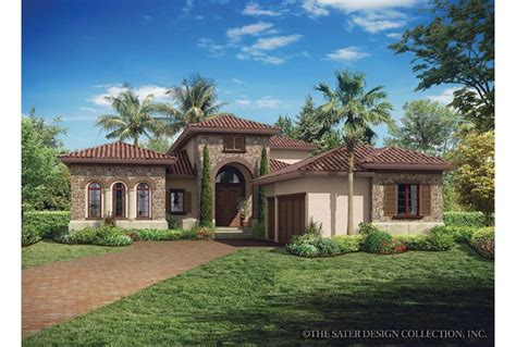 Tuscan House Plans Single Story Eplans Mediterranean