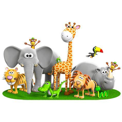 stickers muraux animaux de la jungle sedgu
