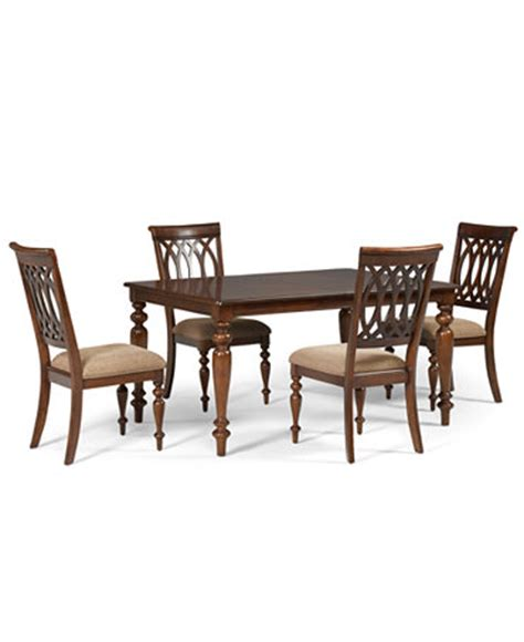 crestwood dining room furniture 5 set dining table and 4 side chairs furniture macy s