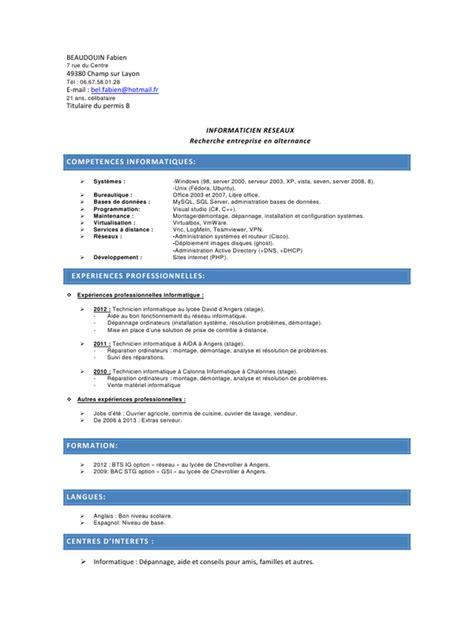 cv licence pro pdf par faboune fichier pdf