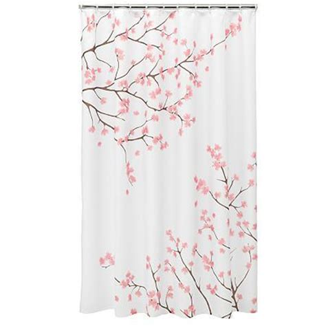 home classics cherry blossom shower curtain va house