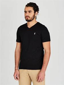 Polo V-Neck T-Shirt Black 12Q381B | spree.co.za