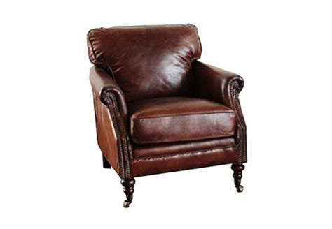 Guilford Cigar Chair- Brown Leather Horizon Home Furniture Bombay Collection Online Stores Office Desk Bar House Of Paula Deen Made Bondage Custom Entertainment