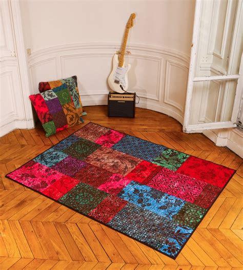 les tapis tapis pas cher lavable en machine isparta patchwork pour le salon