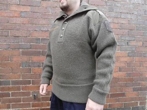 Genuine Austrian Army Wool Jumper Alpine Sweater Rare Combat Olive Pull Over