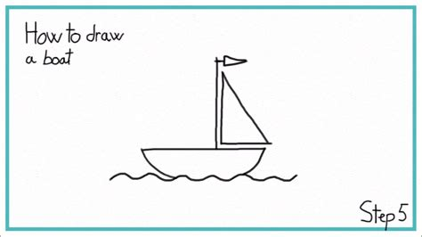 How To Draw A Cartoon Boat Step By Step by How To Draw A Boat In 7 Steps Easy Youtube