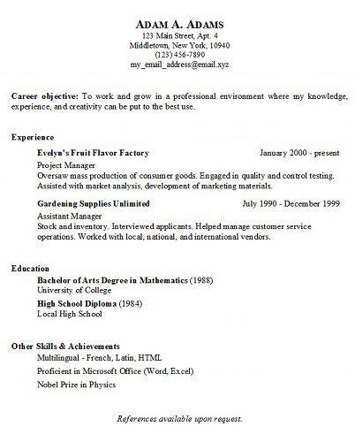 Simple Job Resume Examples  Musiccityspiritsandcocktailm. Resume Bio Sample. Sending Resume Through Email Sample. It Executive Resume Examples. Chemist Resume Sample. Resume Reference List Template. Format Of Good Resume. Sample Resume Healthcare. Best Job Sites To Post Resume
