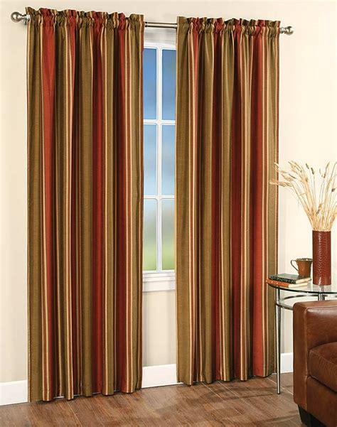 faux silk stripe window curtain panel curtainworks