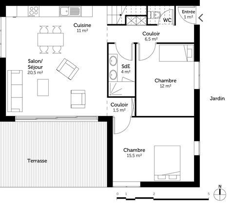 plan maison contemporaine 100 m 178 ooreka