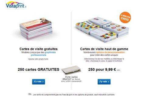 vistaprint 250 cartes de visite gratuites tirage photo gratuit