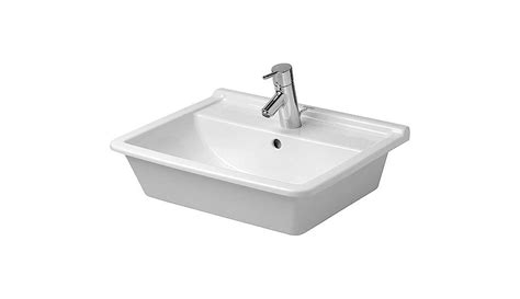 duravit 0302560000 white starck 3 ceramic 22 quot drop in bathroom sink with single faucet and