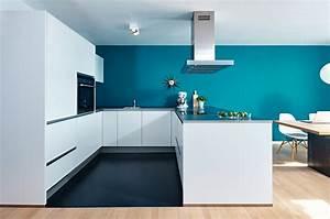 Küche Farbe Wand : offene wohn essk che von nolte mit siemens einbauger ten ~ Markanthonyermac.com Haus und Dekorationen