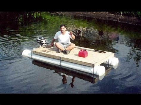 Homemade Fishing Boat by Diy Pvc Pipe Pontoon Boat Homemade Boat In 1 Day Youtube
