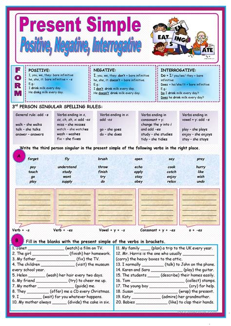 Present Simple Worksheet  Free Esl Printable Worksheets Made By Teachers