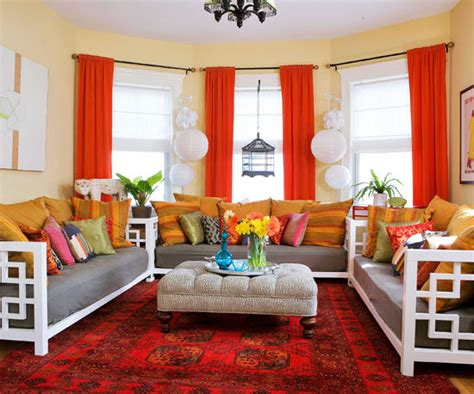 15 Red Living Room Design Ideas Soundproof Fabric Curtain Uk Curtains Target Modern Bay Window Hang With Tension Rods Best Deals On Blackout For Shower Black Ticking Stripe Diy No Sew Pinch Pleat