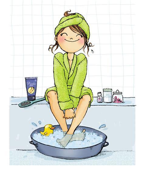 mercredi c est bain de pieds les chosettes