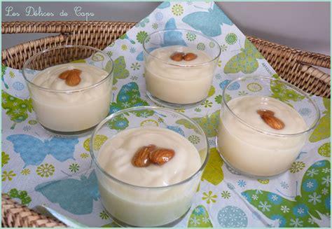 cr 232 me dessert au lait d amande au thermomix les d 233 lices de capu