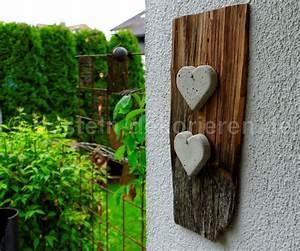 Alte Notenblätter Zum Basteln : bastelanleitung f r eine deko mit herzen aus beton basteln und dekorieren ~ Markanthonyermac.com Haus und Dekorationen