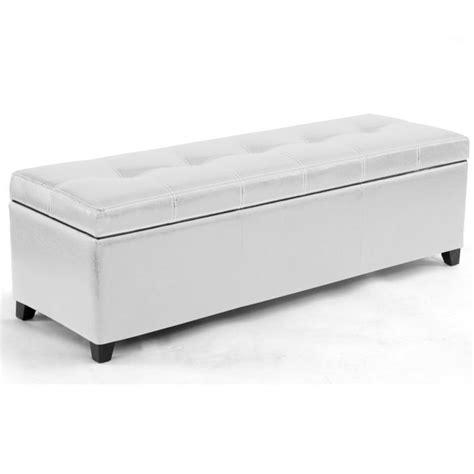 banc de lit coffre blanc