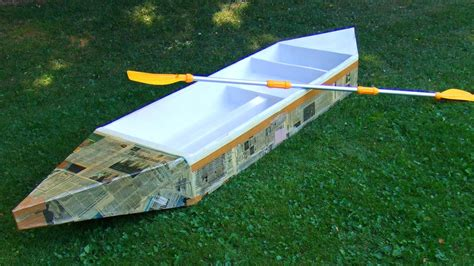 How To Make A Cardboard Boat With Only Duct Tape by How To Build A Durable Cardboard Boat Youtube